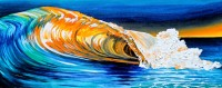 Teal Orange Duochrome. Oil on canvas, 30 x 12 inches.
